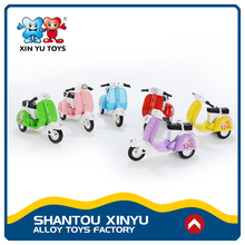Pull back mini retro style 1/18 diecast car model motorcycle toys 2017 for kids