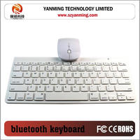 NEWEST wireless bluetooth 3.0 keyboard with mouse for apple iphone for samsung smartphones for macbook