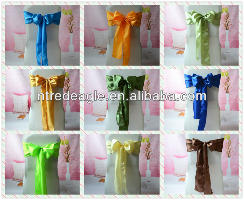Satin Sash for wedding/chair sash/chair covers and sashes for sale