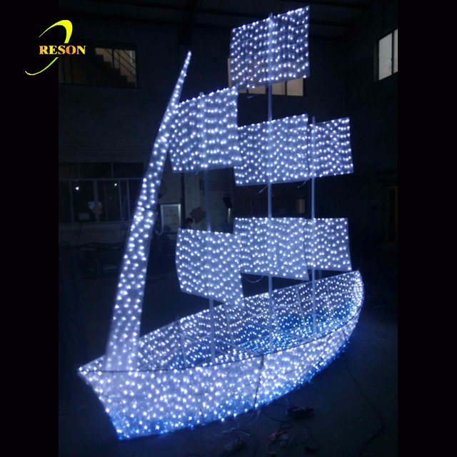 New Outdoor Design Led Sailing For Holiday Decoration