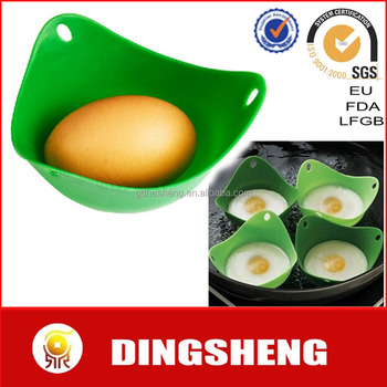 Best selling Silicone Egg Poachers Egg Cookware Cups Silicone Poach Pods Built W Silicone Heat-resistant Foodgrade Material