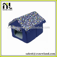 hot pet product house design floral waterproof canopy girl bed dog house