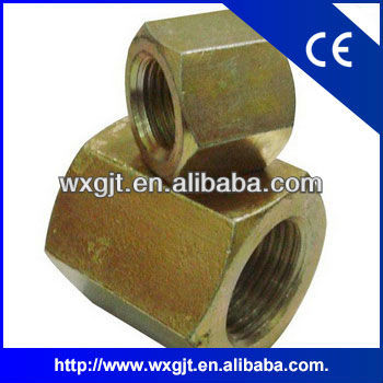 Yellow zinc plated Hex thick nut used in NAVECO track