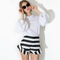 2015 summer stripe frill sexy skirt for free sample
