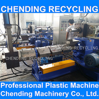 CHENDING waste lldpe ldpe pe pp film plastic granules extruder extruding making machine