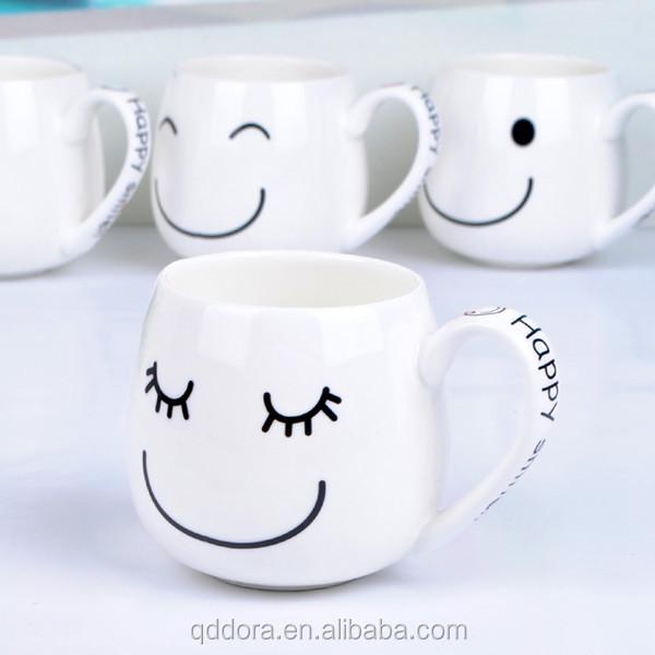 benutzerdefinierte lustige gesichter kaffeetasse gro handel lager porzellan gesicht mit. Black Bedroom Furniture Sets. Home Design Ideas