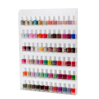 Hot sell wall mounting acrylic cosmetic Organizer display stand /nail polish display stand R160716