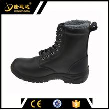 CE certificate safety shoes Casual Safety boots fake fur warm shoe