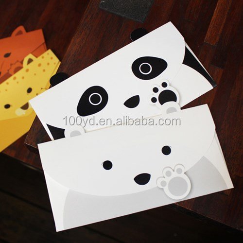 Personalized Design Paper Envelope Korea Creative Cute Envelopes panda Envelope