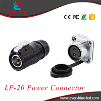 Alibaba LP-20 Power Connector IP65/IP68 2Pin Male Plug and Female Socket