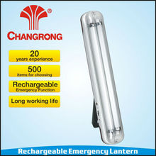 indoor 2*15W tube portable electric rechargeable wall lantern