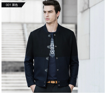 37Gentlemen's long sleeve BUTTON thickens maintains warmth jacket for WINTER season,fom Guangzhou