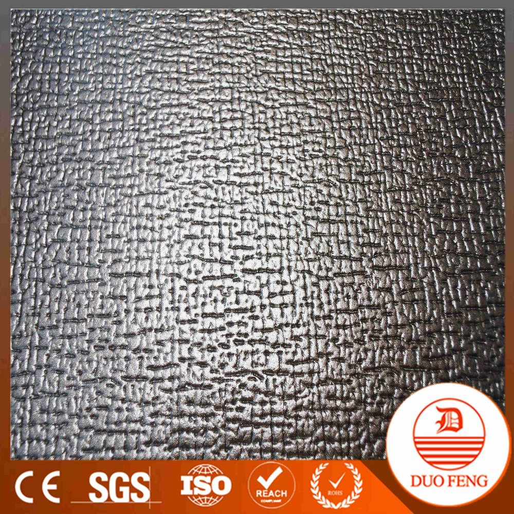 Widely Use textured sofa leather printed pu pvc material