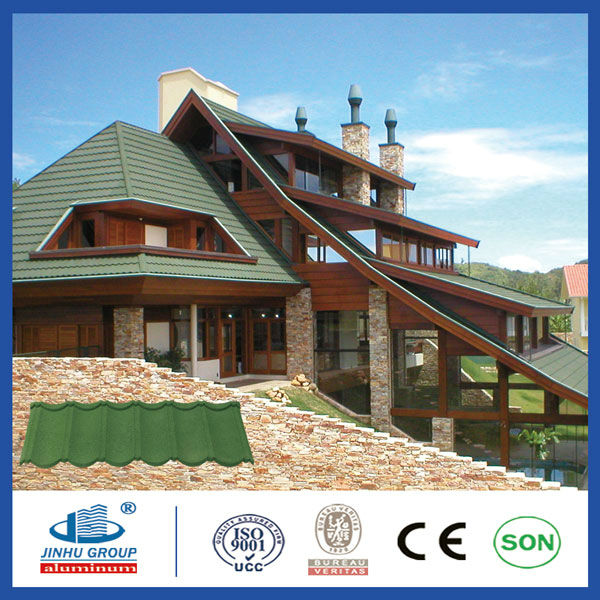 CE SONCAP ISO stone chip coated metal roofing til