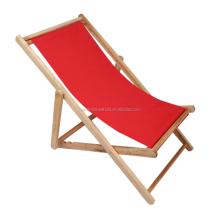 Hardwood Folding Canvas Beach Chair Sun Lounge Deck Chair