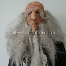 Old man latex mask with white eyebrows white hair