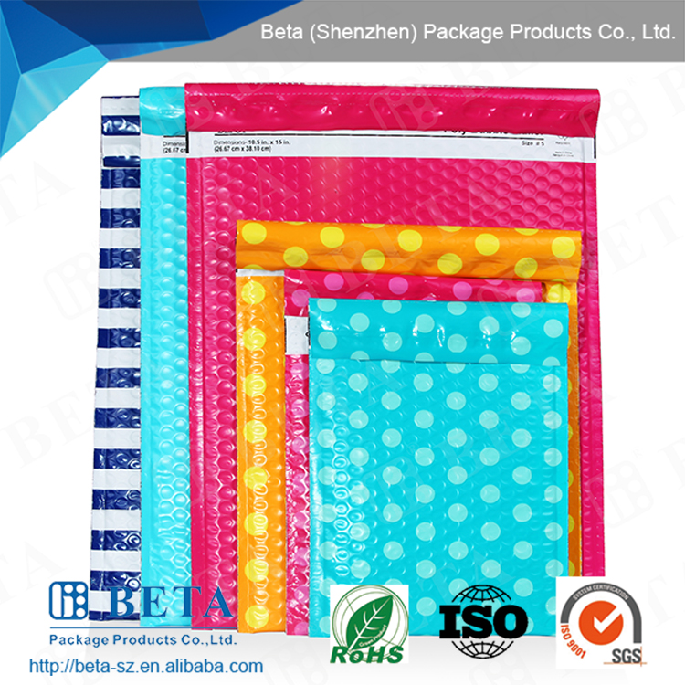Self-seal Colored Decoration Wholesale Poly Bubble Mailer
