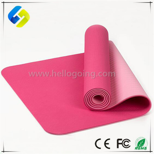 6mm Yoga Mat Non Slip Double Layers TPE Sheet eco friendly yoga mat