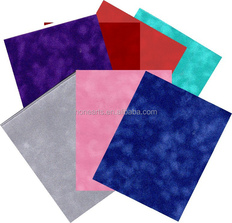 high density velvet Wrapping Papers /color felt For Gifts Packing