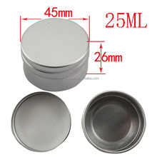 empty cosmetic aluminum cream jar Multi Purpose Container Aluminium Can - for the nail gel 25ml 45*26