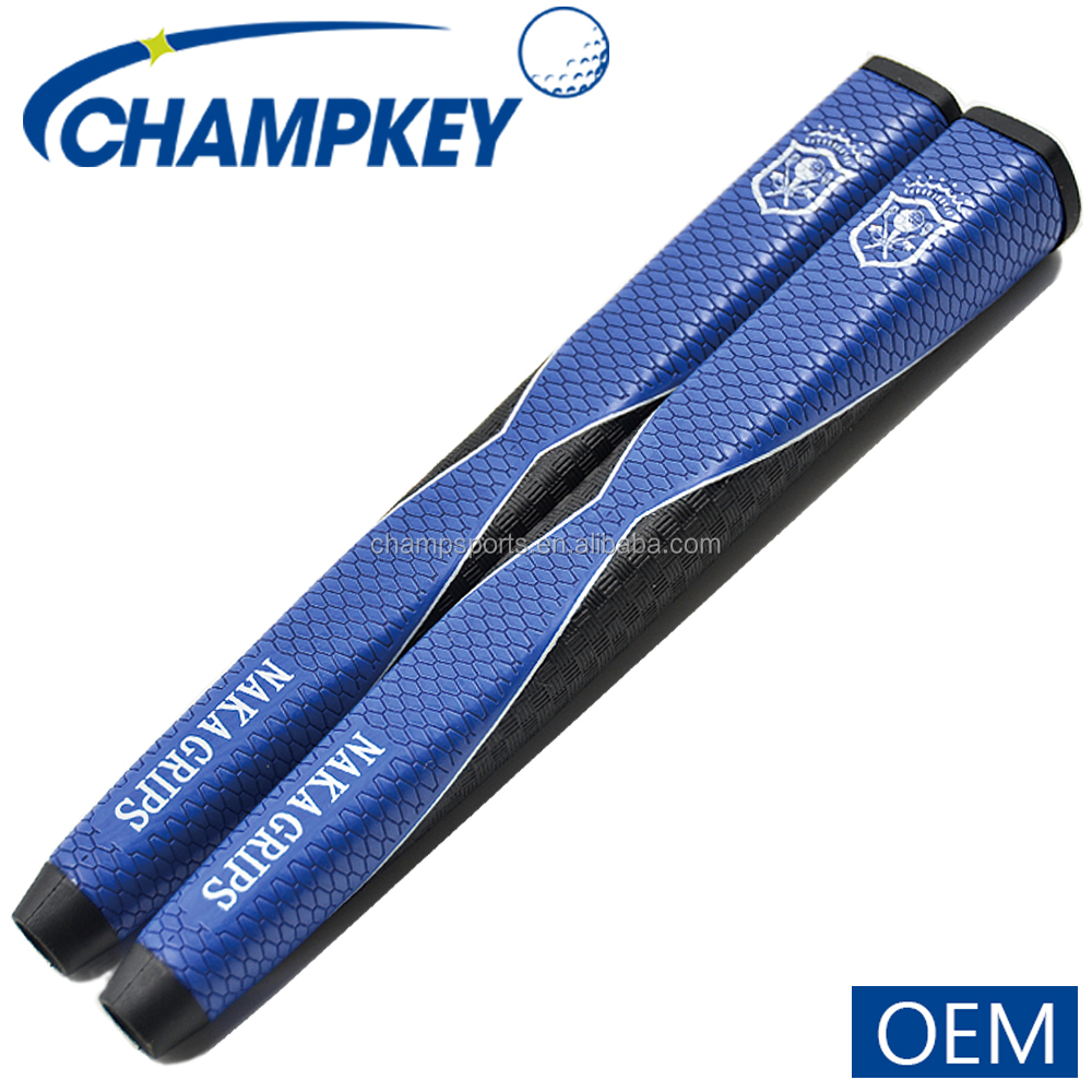 2017 New Blue Pu Leather Golf Putter Grips,OEM Golf Grips,Golf Grips Wholesale