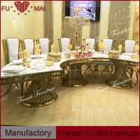 Modern new design wedding banquet furniture half moon types banquet tables