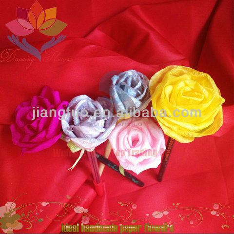 Custom hot selling paper hair accessories silk flowers