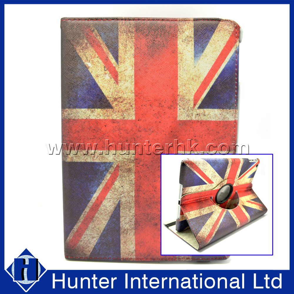 Printed Union Jack Rotating Tablet Case For iPad Air