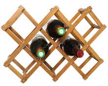 Modern design Luxury bamboo wine bottle holder which could hold 8 bottles