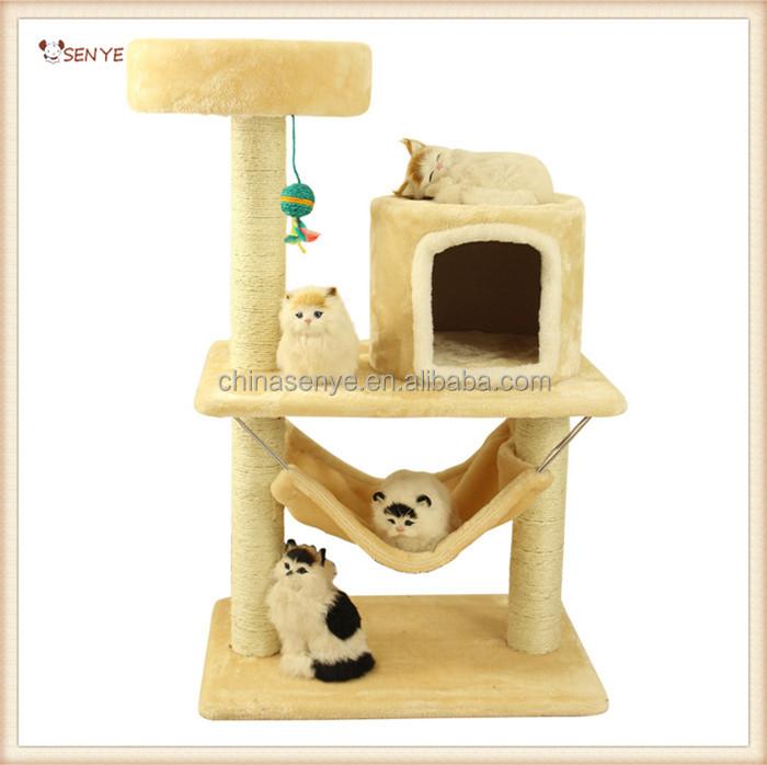 En gros de luxe chat arbre maison arbre chat jouets pour for Arbre maison jouet