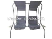 2-seat swing chair garden/High quality two seats garden patio swing/Two Seat Outdoor Furniture Garden White Hanging Swing Chair