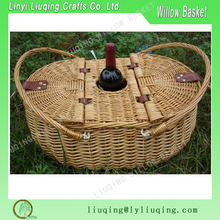 Liuqing cheap high quality outdoor food wicker picnic basket