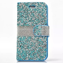 Used Mobile Phone Bling Glitter Flip mobile cover diamond Crystal phone case with card slot for Alcatel Fierce 4