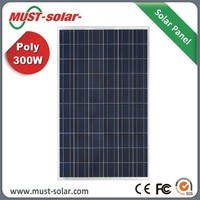 High Efficiency +/-3% Power Tolerance Poly 300w Solar Panel Battery for Home Use