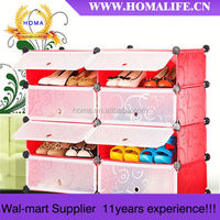 hot sale High quality DIY shoe racks with mirror