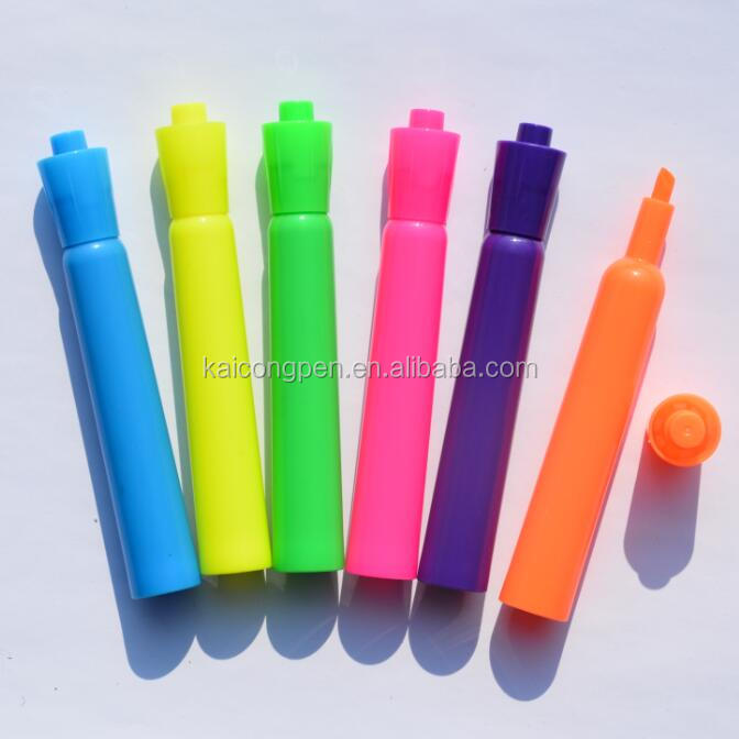 New brand highlighter marker pen 60pcs/PDQ  with multi-color fluorescent marker pen For paper fax copy etc