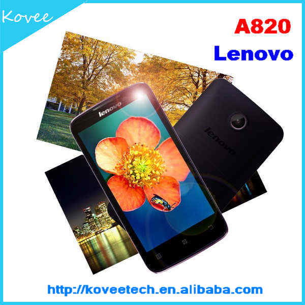 chinese mobile phone 4.5inch HVGA Capacitive Screen Lenovo A820 Android 4.1 Smartphone Lenovo A820 Android Phone 3G GPS WIFI