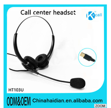 103U News skype headset telephone with MIC&USB DC plug for computer&Laptop&call center service