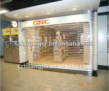 shenzhen High quality Electric commercial rolling shutter door/ polycarbonate transparent roller door