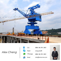 Port Loading And Unloading Four Boom Portal Crane 40Ton