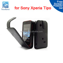 Leather Flip Case for Sony Xperia Tipo ST21i Back Cover