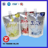 alibaba china Custom printed screw top plastic bag
