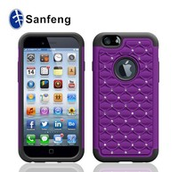 Cheap Price Purple Diamond Combo Case For Iphone 6 4.7