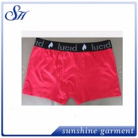 Wholesale Cotton boxers elastic band with logo mens underwear