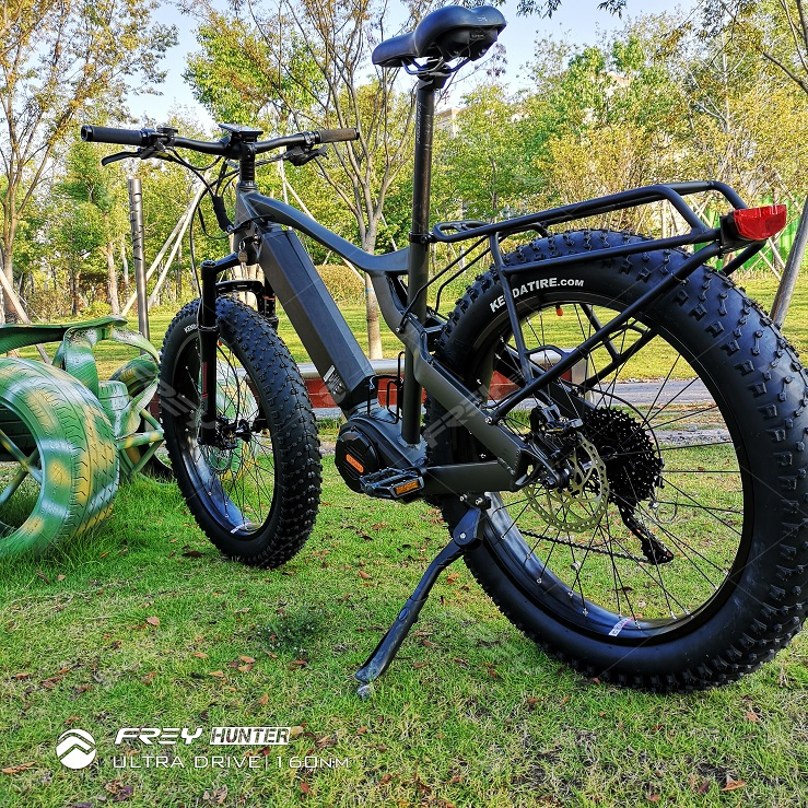 Latest 1000W fat electric bike hunting bike with Bafang Ultra mid motor system