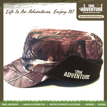 True Adventure TA3-004 Flat Top Military Hunting with Ear Flap Camo Cap Camouflage Hunting Hat