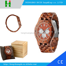 2016 Promotional 100% natural sandalwood/zebra/maple wooden watches wrist watch