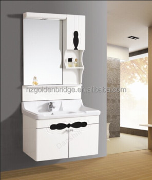 80cm wall mounted modern contemporary PVC bathroom cabinet 0187
