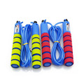 kid foam rubber nbr elastic fitness rope skipping with multicolor foam handle foam grip