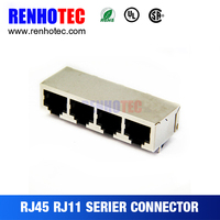 Best Price hot vertical entry rj45 connector with 90 degree